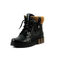 Ботинки зимние женские Vakardi V238 черная кожа р. 36 37 38 39 40