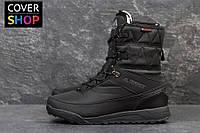 Ботинки adidas Terrex-black, материал - нубук+текстиль с водоотталкивающей пропиткой, утеплитель - овчина