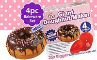 Форма силиконовая для выпечки гигантских пончиков Giant doughnut maker купить в Украине, фото 1