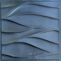 """Пластиковая форма для изготовления 3d панелей """"Нежность"""" 50*50 (форма для 3д панелей из абс пластика), фото 1"""