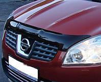 Мухобойка, дефлектор капота Nissan Qashqai 2007-2010 (Sim)