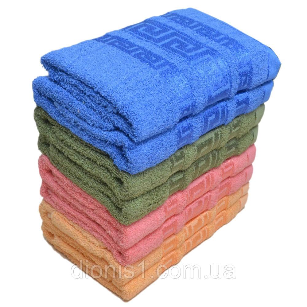 Лицевое махровое полотенце Узор версаче Венгрия. 8 шт в уп. Размер 50х90 100% хлопок