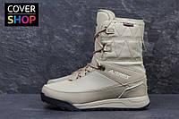 Ботинки женские adidas Terrex, бежевые, материал - нубук+текстиль с в. о. пропиткой, утеплитель - овчина