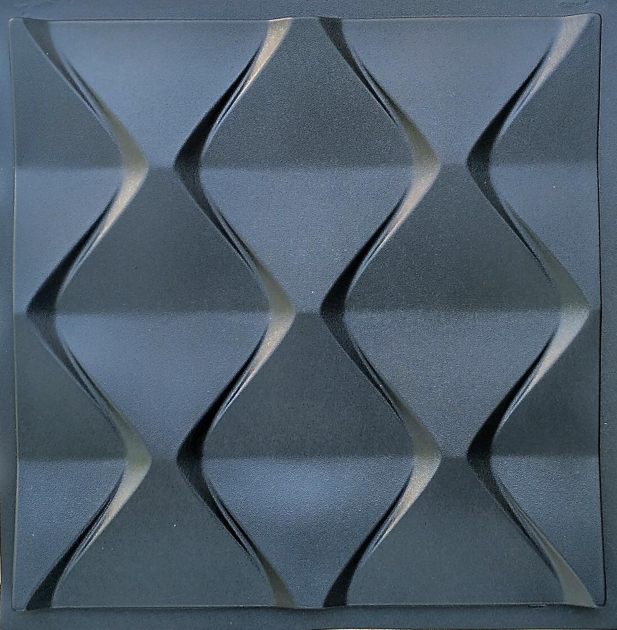 """Пластиковая форма для изготовления 3d панелей """"Пирамидки"""" 50*50 (форма для 3д панелей из абс пластика)"""
