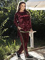 Женский бархатный спортивный костюм 03605