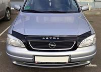 Мухобойка, дефлектор капота Opel Astra G/Classic 1997-