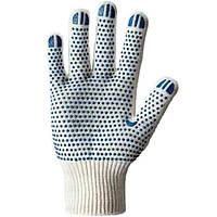 Перчатки трикотажные с синей точкой 561 N20806254