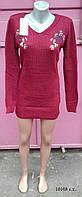 Женская туника-платье вязаное 10108 с.т.