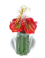 Подарочная свеча Букет лилий красный