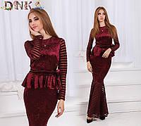 Женское длинное платье бархат , фото 1