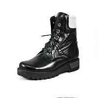 Ботинки зимние женские Vakardi V368 черно-серая кожа р. 36 37 38 39