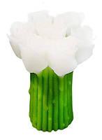 Подарочная свеча Букет роз белая