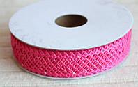 Кружево лента Сетка, малиновый цвет, 2 см, 20 м моток