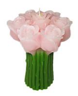 Подарочная свеча Букет роз розовая