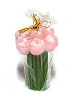 Подарочная свеча Букет тюльпанов розовый