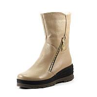 Ботинки зимние женские Vakardi V369 бежевая кожа р. 36 37 38 39 41