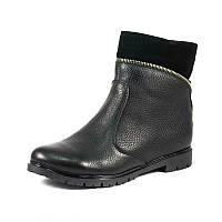 Ботинки зимние женские Vakardi V371 черная кожа р. 36 37 38 39 40 41
