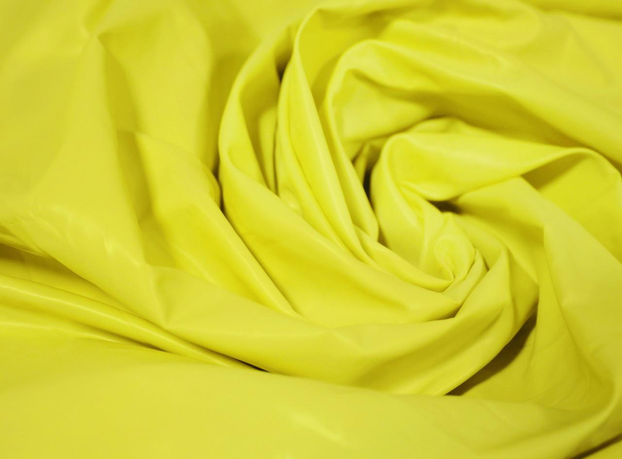 Плащевая ткань лаке лимонная оптом