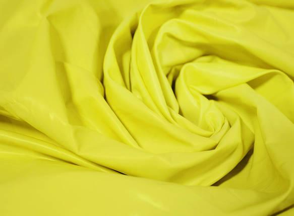 Плащевая ткань лаке лимонная оптом, фото 2