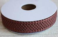 Кружево лента Сетка, цвет коричневый, шоколадный, 2 см, 20 м моток