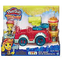 Уценка! Игровой набор Play-doh Пожарная машина. Оригинал Hasbro B3416