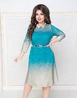 Гипюровое платье с поясом  50 52 54 56, фото 1