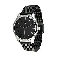 """Часы наручные """"Белым по черному"""" (черный) + дополнительный ремешок"""