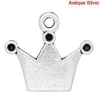 "Подвеска, Античное серебро, "" Корона "", 19 мм * 17 мм"