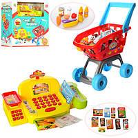 Большой Игровой набор Мой Магазин СупермаркетLS820A22-1, кассовый апарат, микрофон,сканер, продукты, тележка