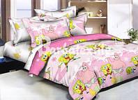 """Детское постельное белье """"Губка боб"""" розового цвета"""
