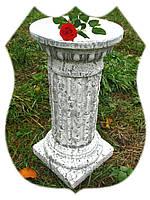 Декоративная колонна средняя 45 см (камень) постамент подставка стойка свадебная тумба Гипс