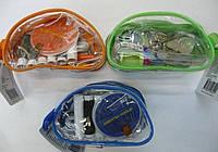 4305 N Набор дорожный в прозрачном пластиковом кошельке на молнии