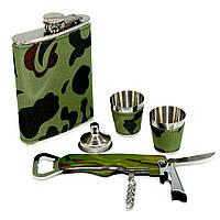 """Подарочная Фляга для алкоголя и открывалка """"Камуфляж"""" A132"""