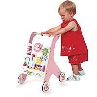 Ходунки-каталка розовые (50178), Viga Toys