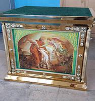 Облачение на престол для церкви (иконы из янтаря)
