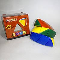 Головоломка цветная пираморфикс ShengShou (кубик-рубика), фото 1