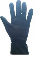 Перчатки флисовые женские теплые черные, фото 1