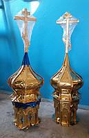 Золотые маковки церквей разных размеров