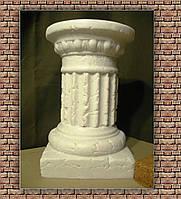 Колонна малая 33 см (белая) постамент подставка стойка тумба Полистоун