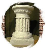 Декоративная колонна, постамент, подставка, стойка, свадебная тумба, белая 44 см. Малая. Гипс