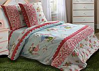 Двуспальное постельное белье Скворуша 180*220 хлопок