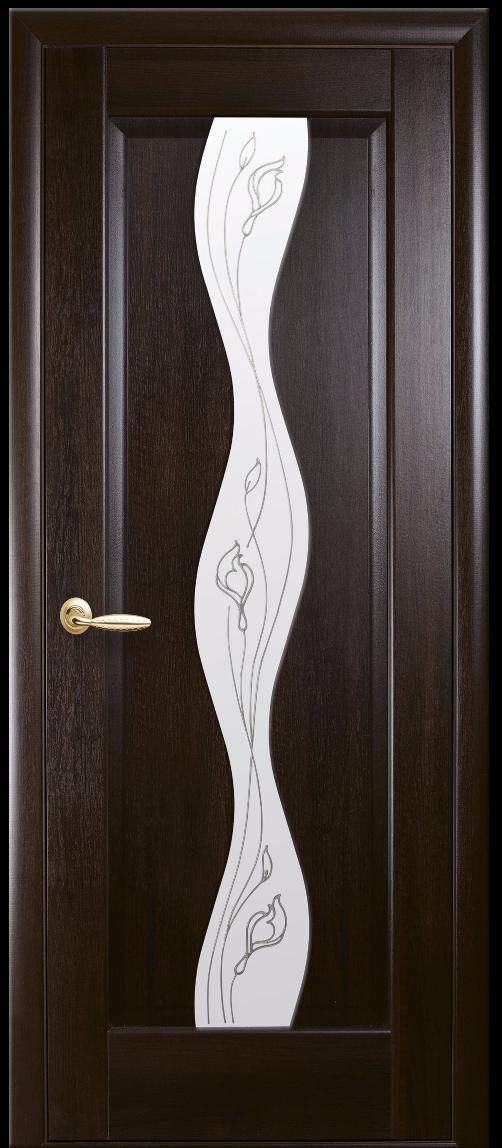 Межкомнатные двери Новый Стиль Волна Р2 Каштан