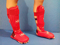 Защита для ног (голень+стопа) с отделяющейся стопой (р-р S- XL синий, красный)