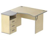 Стол угловой с тумбой М433 (140 см) Арт Мобил АМФ