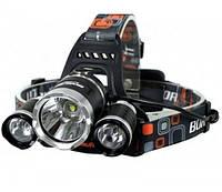 Универсальный налобный  аккумуляторный фонарь Boruit RJ-3000