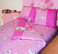 """Детское розовое постельное белье """"Китти"""" для девочек"""