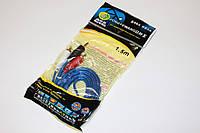 Аудио кабель 3.5мм-2RCA 1.5m Silicon (в пакете)