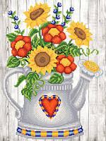 Схема для вышивки бисером Садовая лейка