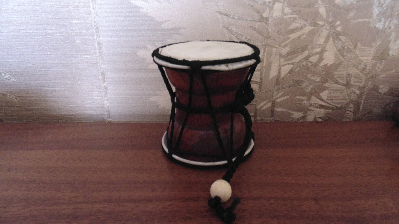 Барабан там-там бамбуковый  двухсторонний размер 10*9 - Интернет магазин top-podarok.com.ua в Киеве