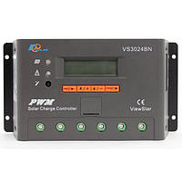 Контролер ШІМ 30А 12/24В з дисплеєм, (VS3024BN) EPSolar